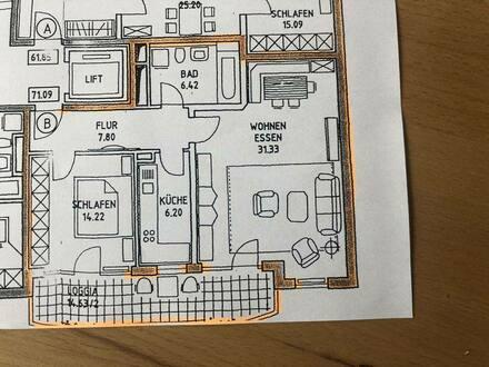 Landshut - Geräumige und gepflegte 2-Zimmer-Wohnung mit großem Südbalkon in Landshut West