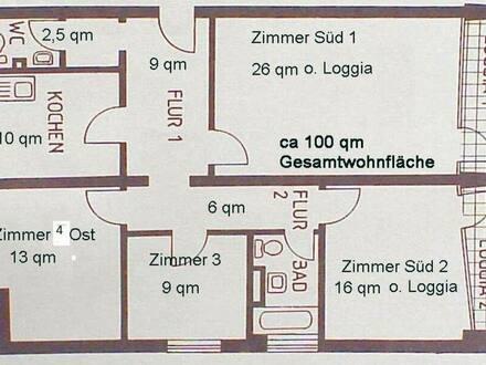 Karlsruhe - Von privat WG-geeignete 4-Zimmerwohnung in Karlsruhe Mühlburg