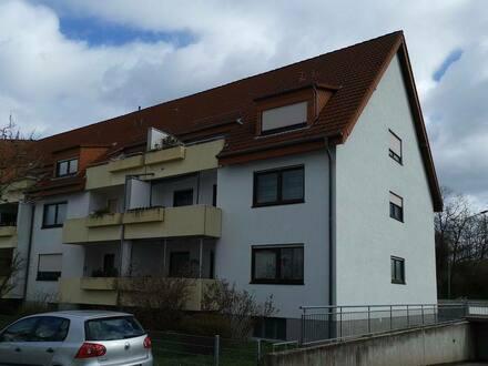 Worms - Von Privat, gepflegte 3-Zimmer-DG-Wohnung mit Balkon in Worms