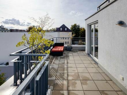 München - luxuriöse 4-Zimmer-Penthouse-Wohnung mit rundlaufender Dachterasse in Laim, München