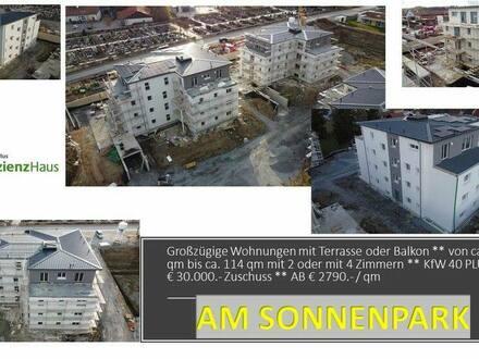 Kemnath - Top Penthouse-WG-mit schöner Terrasse ** 2 Zimmer++ 30.000EUR Zuschuss ++ KfW 40 PLUS