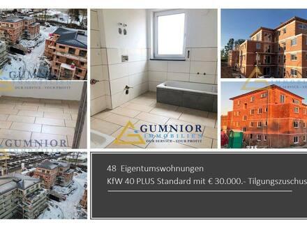 Kemnath - Richtig tolle 4 Zimmer Terrassenwohnung Ost-Süd-Ausrichtung ++ Kfw 40 PLUS + EUR 30 tsd. Zuschuss -Garten