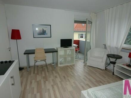 Sehr schön möblierte 1-Zimmer-Wohnung mit einem kleinen Balkon
