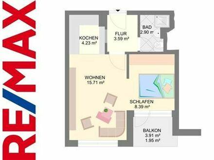 REMAX - 1,5-Zimmer-Wohnung mit Balkon, vermietet
