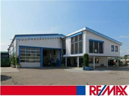 RE/MAX - Toplage: Betriebsgebäude, Halle mit Wohnung