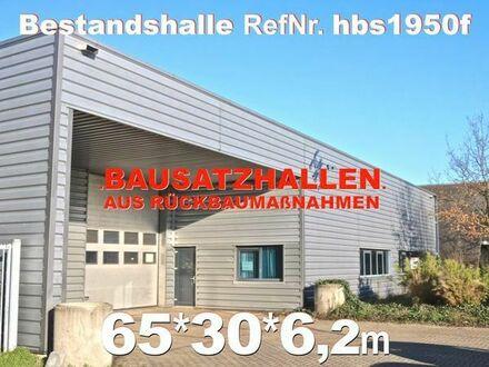 Gebrauchte Stahlhalle 69x32x6m moderne Fabrikhalle abzubauen