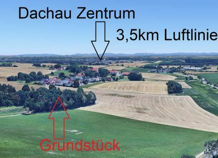 Spekulationsgrundstück in Dachau - wunderschöne Lage - mit Hütte/Bienenhaus