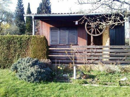 Gartengrundstück in herrlicher, ruhiger Aussichtslage mit Häuschen zu verkaufen