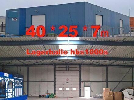 Isolierte Lagerhalle 40x25x7m Stahlhalle aus Abbruch