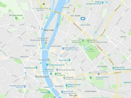 Budapest 13. Bezirk * Zentrale ruhige 2 Zi. Wohnung mit Panoramablick * 35 qm * v. Privat