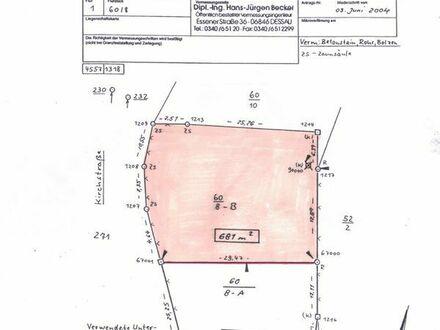 Hübsches Baugrundstück, 681 qm, voll erschlossen, 06794 Glebitzsch
