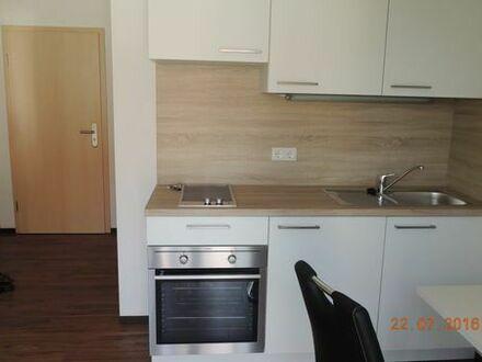 Möbliertes Apartment mit Balkon im 1.OG mit Aufzug, Tiefgaragenstellplatz, Neubau, Bezug 01.08.2019