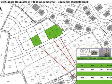 Die letzten Grundstücke in Angelbachtal. Vorgesehen für Häuser von OKAL
