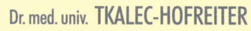 Dr. Gabriele Tkalec-Hofreiter FA f Zahn-, Mund- u Kieferheilkunde