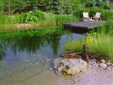 Wohntraum mit Saunalandschaft am eigenen Badeteich