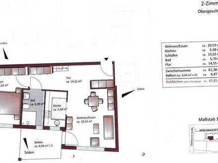 Gepflegte Wohnung mit zwei Zimmern sowie Balkon und EBK in Pforzheim