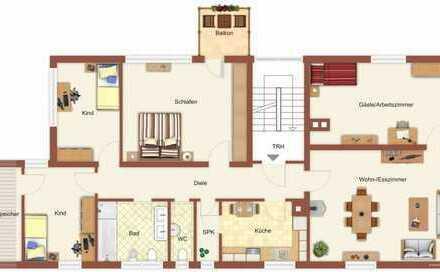 !!Preishammer!! 128 qm! 6 Zimmer! **Eine Wohnung für die große Familie**