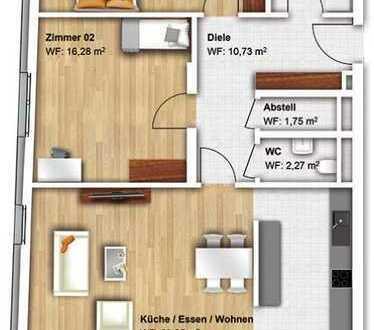 Helle, geräumige Drei-Zimmer-Wohnung mit EBK und Balkon in Offenburg am Kronenplatz