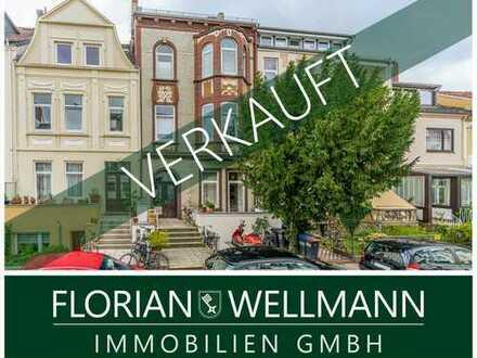Flüsseviertel | Aufwendig modernisierte Hochparterre-Wohnung + Garten + 2 Balkone + Einliegerwohnung
