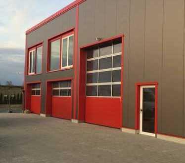 Erstbezug Neubau Lager- + Betriebshalle!