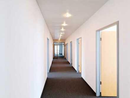 Schickes Bürohaus mit begrünten Innenhöfen