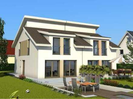 2 attraktive Baugrundstücke mit Bebauungsbeispiel und Kosten