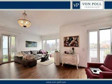 Drei-Zimmer-Wohnung mit Balkon auf der Mole