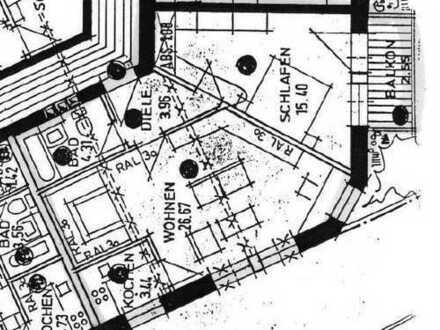 Erstbezug nach Sanierung mit Balkon: ansprechende 2-Zimmer-Hochparterre-Wohnung in Augsburg