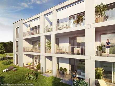 Kompakte 2-Zimmer-Gartenwohnung mit sonniger Westterrasse und großem Wohn-Ess-Koch-Bereich