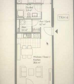 Exklusive 2-Zimmer-Wohnung mit Balkon und EBK in HafenCity, Hamburg