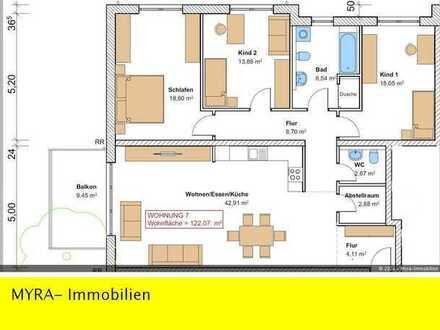 *Projektiert* OG-Wohnung Nr.7 mit Balkon und TG-Stellplatz - Barrierefreie & behindertengerecht *