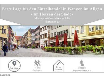 Beste Einzelhandelslage im Herzen der Wangener Altstadt