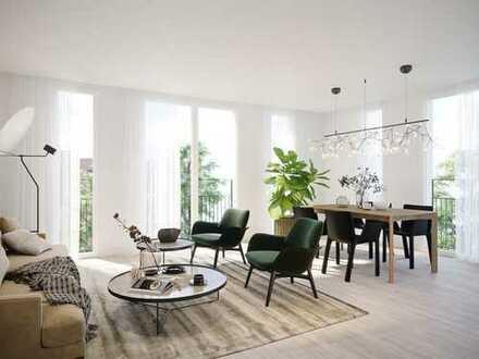 4-Zimmer-Wohnung mit großem Wohnbereich, 2 Bädern + Süd-Loggia in lebendiger Umgebung