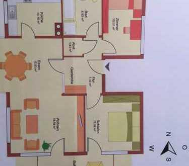 Schöne helle drei Zimmer Wohnung in Ettlingen--Schöllbronn