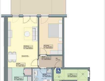 2-Zi.-Wohnung mit großer Terrasse und Gartenzugang