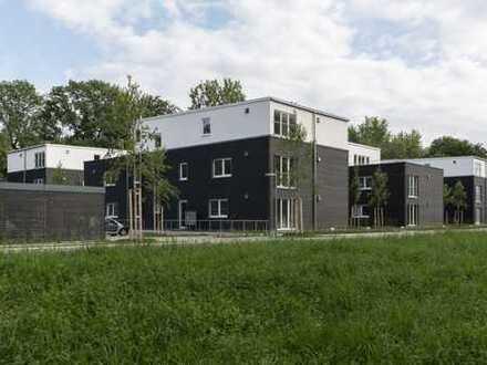 Terrassenwohnung barrierefrei und mit Garten mit Sicherheitspaket und KfW Förderung