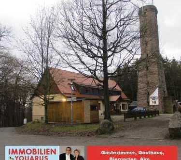 Gästezimmer, Gasthaus, Biergarten, Alm, großes Grundstück in idyllischer Lage am Höcher Turm