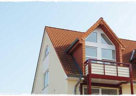 Sonnige 2,5-Zi.-Maisonette-Wohnung mit 2 Balkonen in Delitz am Berge!!
