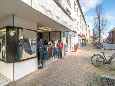Fussgängerzone Wesel: Ladenlokal mit Erweiterungsmöglichkeit in stark frequentierter Lage