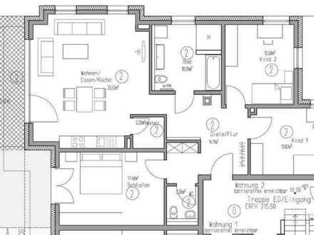 4 Zimmer Erdgeschosswohnung mit einem Tiefgaragenstellplatz und einem Stellplatz (Wohnung 2)