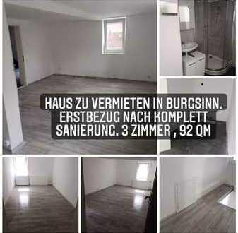 Erstbezug nach Sanierung: ansprechendes 3-Zimmer-Reihenendhaus zur Miete in Burgsinn, Burgsinn