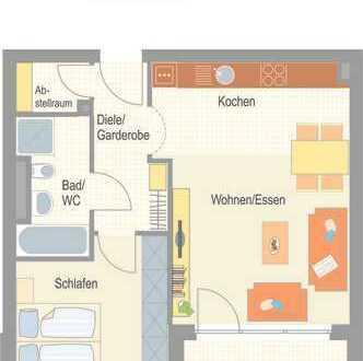 Erstbezug - komfortable 2,5 Zimmer Wohnung mit Balkon!