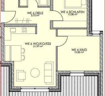 Wunderschöne helle 3 Zimmer DG Wohnung