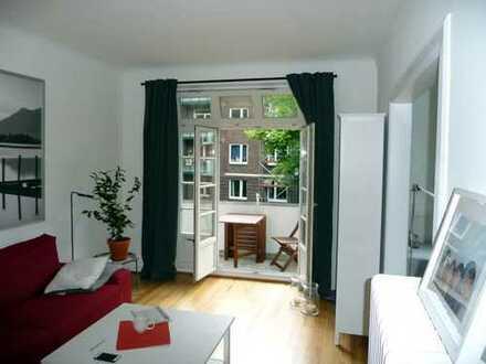 Stilvolle 3-Zimmer-Wohnung mit Balkon und EBK in Eppendorf, Hamburg