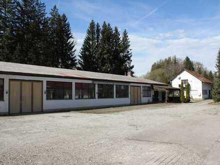 ca. 7000 m² Gewerbegrund mit Halle und altem Wohnhaus Gmd. Geltendorf S4 / Kaltenberg
