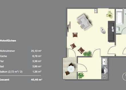 Geräumige 1-Zimmer-Wohnung in Fürstenfeldbruck