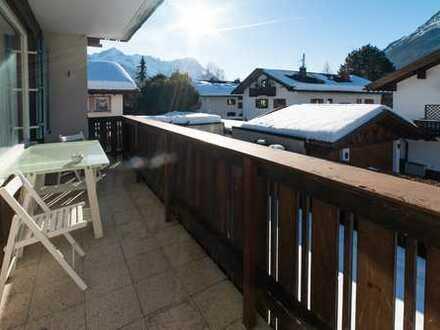Schöne 2 Zimmer Wohnung in Partenkirchen komplett eingerichtet.