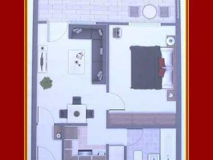 Sehr schöne 2-Zimmerwohnung ca. 43 qm mit top Einbauküche+großem Balkon+Keller+Tiefgaragenplatz