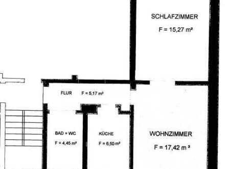 2,0-Zimmerwohnung mit Gartennutzung!