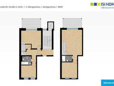 Moderne 4-Raum- Maisonettewohnung mit zwei Balkonen